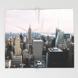 New York skyline from Top of the Rock Throw Blanket
