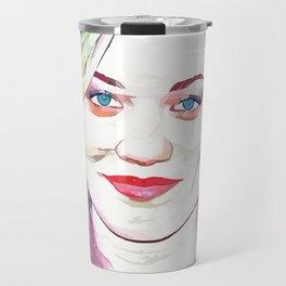Yvonne Strahovski (Creative Illustration Art) Travel Mug
