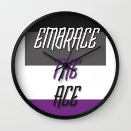 Embrace the Ace Wall Clock
