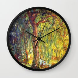 Claude Monet - Weeping Willow - Digital Remastered Edition Wall Clock