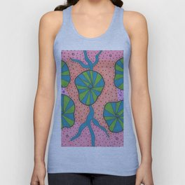 Ocean Floor Greenery Abstract Unisex Tank Top