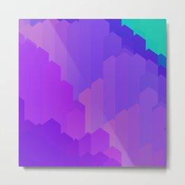 Blue Purple Gem Scape Metal Print