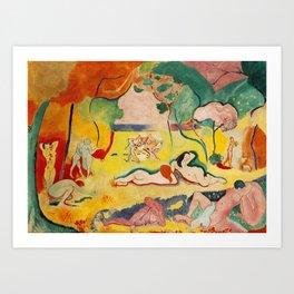 Henri Matisse - Le bonheur de Vivre (The Joy of Life) portrait painting Art Print