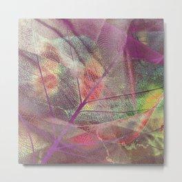 Colored dry leaf Metal Print