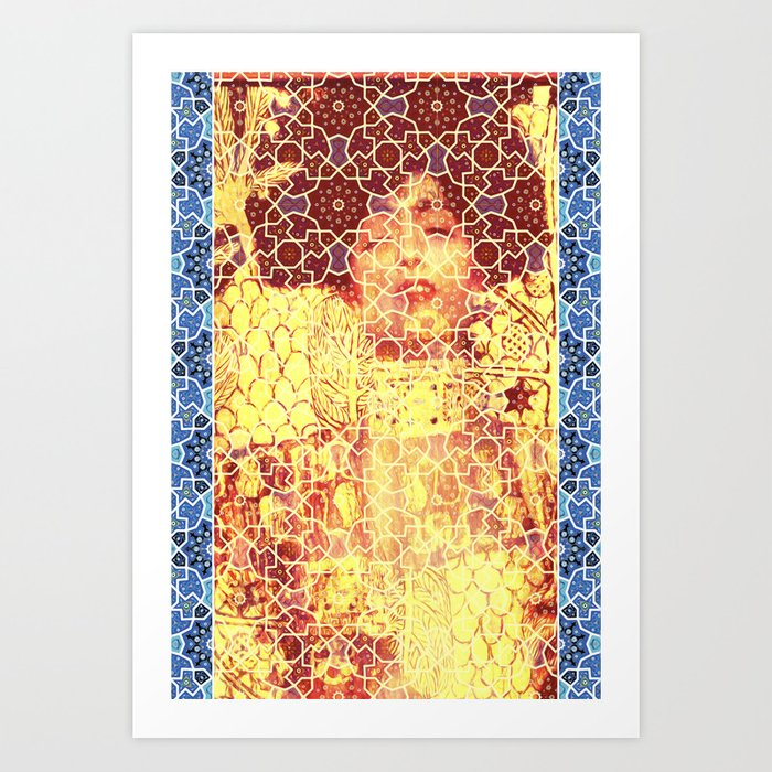 Gustav Klimt & Persian Ceramic Art inspired Art Print by arsalanes ...