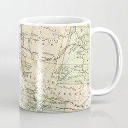 Vintage Map of the West Of The United States Coffee Mug