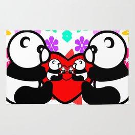 cute couple panda since childhood Rug