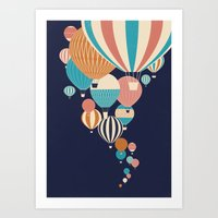 balloons Art Prints featuring Balloons by Jay Fleck