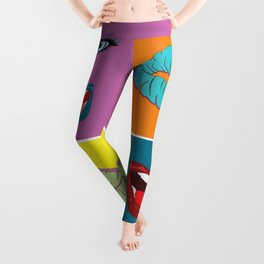 Gossip Lips Pop Art design Leggings