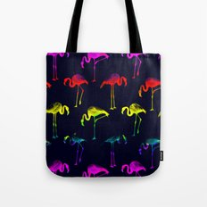 Multicolor Flamingo Tote Bag