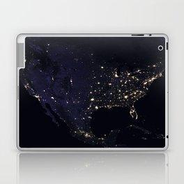 United States at Night Laptop & iPad Skin
