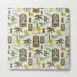 Island Tiki - Tan Metal Print