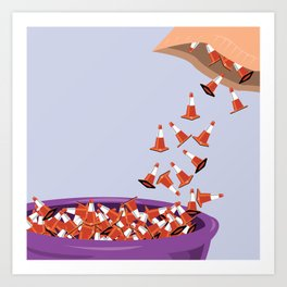 Candy Cones Art Print