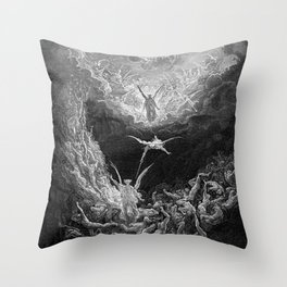 Gustave Doré's The Last Judgement Throw Pillow