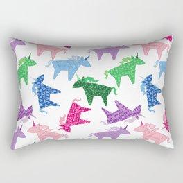 Origami Unicorns Rectangular Pillow