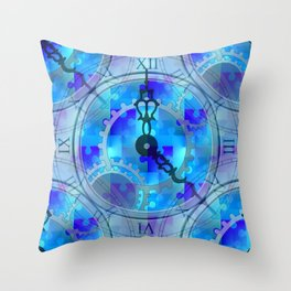 Time Puzzle Throw Pillow