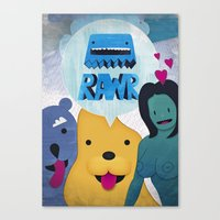 returns Canvas Prints featuring Rawr Returns! by mrbiscuit