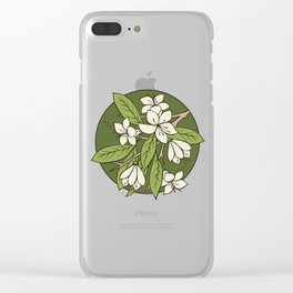 Sakura Branch - Greenery Clear iPhone Case