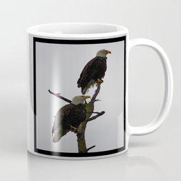 bald eagle pair in the rain (square) Coffee Mug