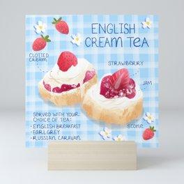 English Cream Tea Mini Art Print