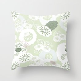 Pretty Poppies Seamless Repeating Pattern Throw Pillow