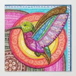 Stitched Hummingbird Canvas Print
