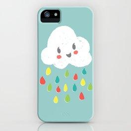 Rainbow Rain - Bright iPhone Case
