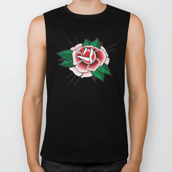 Tattoo Rose Biker Tank