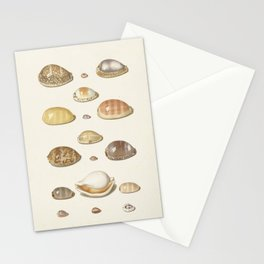 Vintage Seashell Chart I Stationery Cards