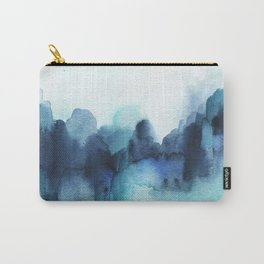 Wonderful blues Abstract watercolor Carry-All Pouch