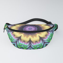 Bright flower mandala Fanny Pack