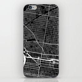 Street MAP Philadelphia // Black&White iPhone Skin