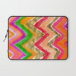 Shocking Pink & Gold Ikat Laptop Sleeve