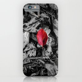 Red detail on black and white iPhone Case