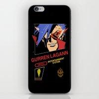 gurren lagann iPhone & iPod Skins featuring NES Gurren Lagann by IF ONLY