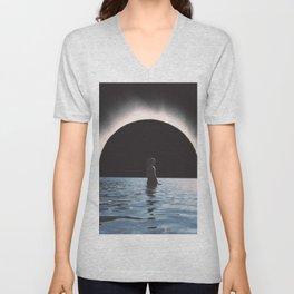 Full Eclipse  Unisex V-Neck