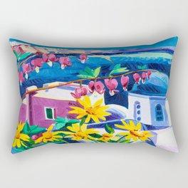Santorini churches Rectangular Pillow