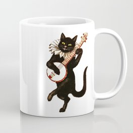 Black Halloween Cat for Decor and T Shirts Coffee Mug
