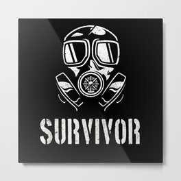 Apocalypse Survivor Gas Mask Metal Print