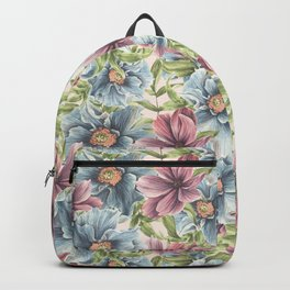 Hibiscus Vintage Pattern Backpack