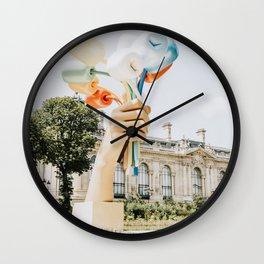 Jeff Koonz Art in Paris l Hand with balloons sculpture l Petit Palais l France Travel Photography Wall Clock