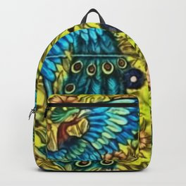 Peacocks with Flower Urns and Gold Leaf Backpack