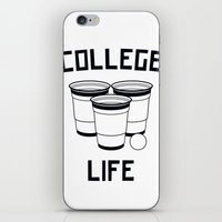 college iPhone & iPod Skins featuring College Life by Danielle Menard