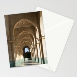 Hassan II Mosque Arcade, Casablanca Stationery Cards