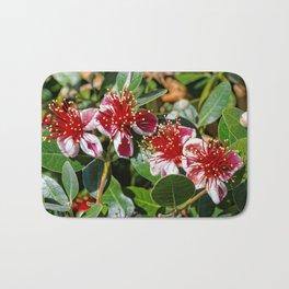 Beautiful Pineapple Guava / Guavasteen Flowers Bath Mat