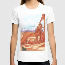 Arches National Park - Erotic Nature Couple Painting T-shirt