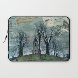 A Village Church on the Top of the Hill Laptop Sleeve