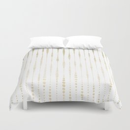 NYC Nights Gold Polka Dot Stripes Duvet Cover