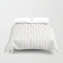 NYC Nights Gold Polka Dot Stripes Duvet Cover