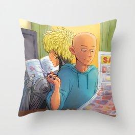 Lazy Sunday with Sensei Throw Pillow